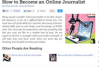 Becoming An Online Journalist
