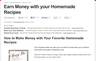 Make Money With Your Homemade Recipes