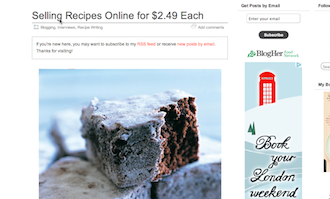 Selling Recipes Online
