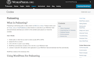 WordPress Podcasting